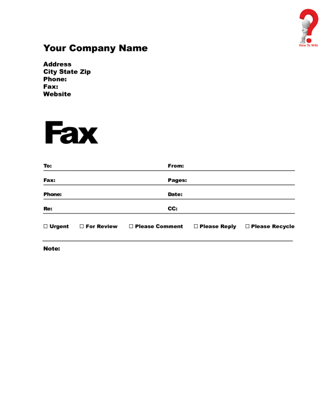 How to Write Professional Fax Cover Sheet - Full Guide  HowToWiki