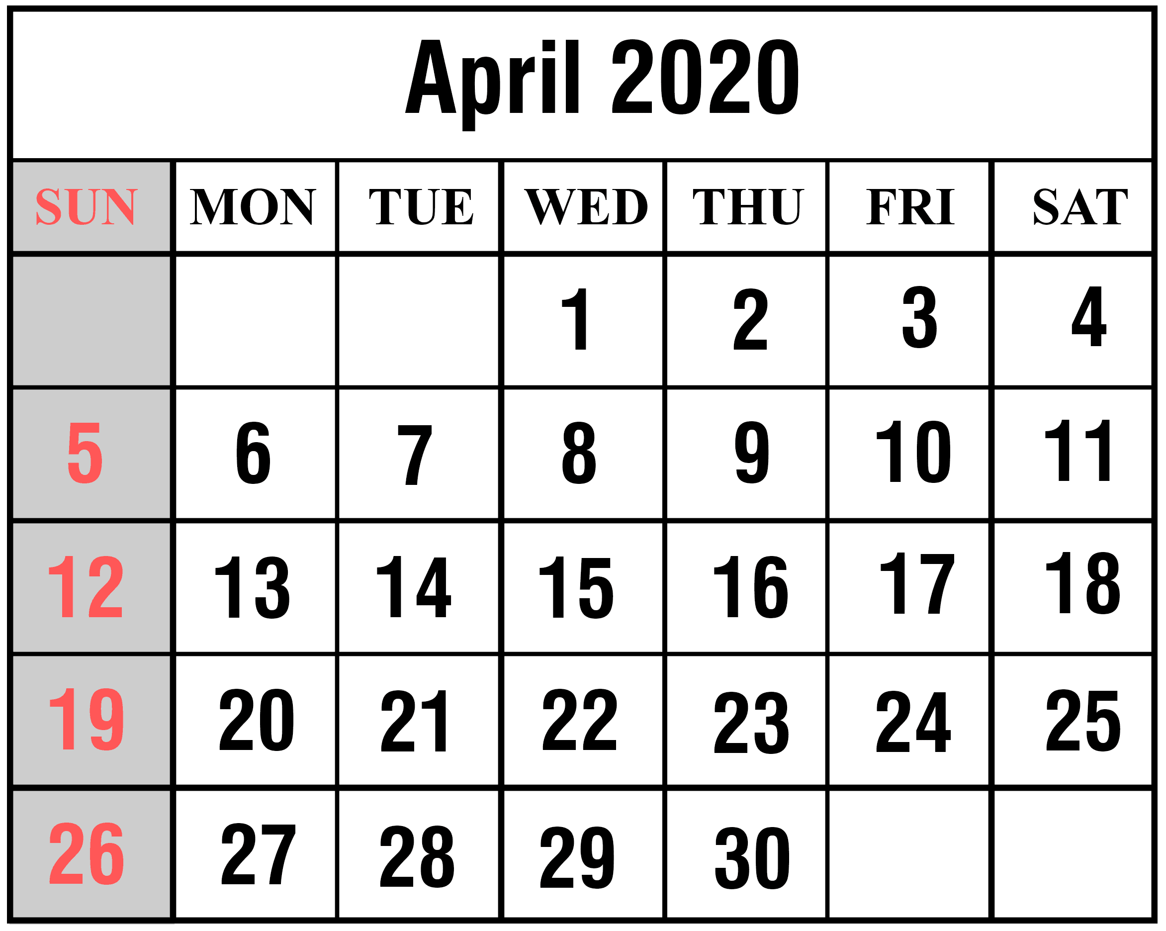 How To Schedule Your Month With April Printable