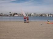Beach practice.