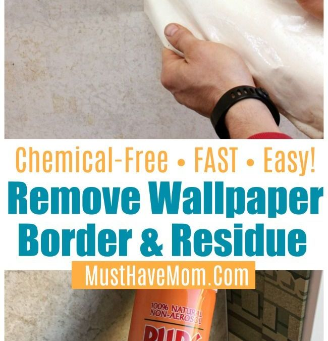 How To Remove Wallpaper Border In Camper Or House Naturally