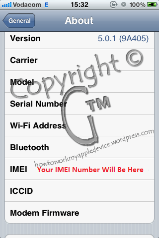 Scroll To Bottom to see IMEI