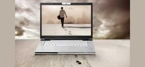 Inspiration Man walking into laptop