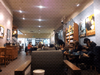 Starbucks inside