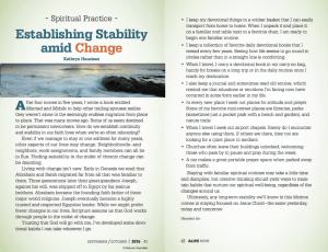 Establishing Stability Amid Change