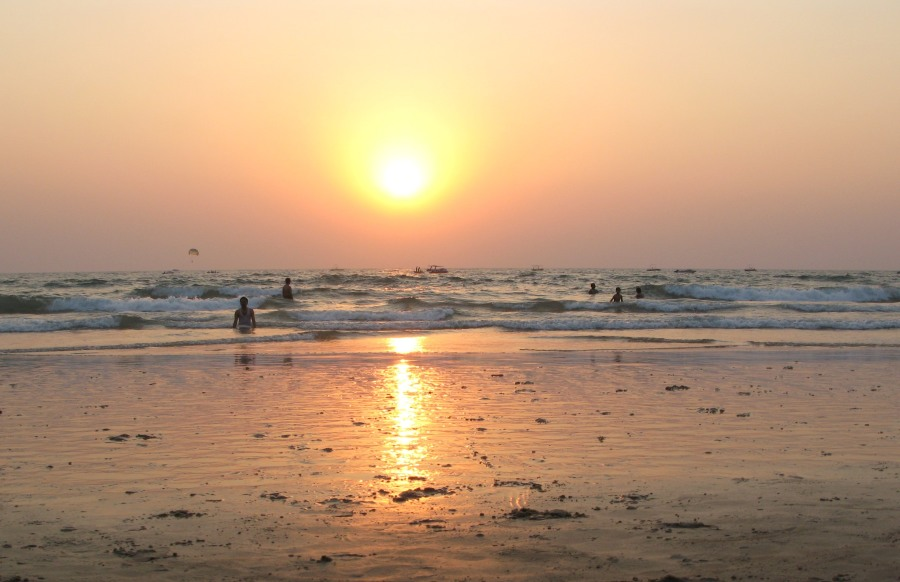 Sunset at Calangute beach