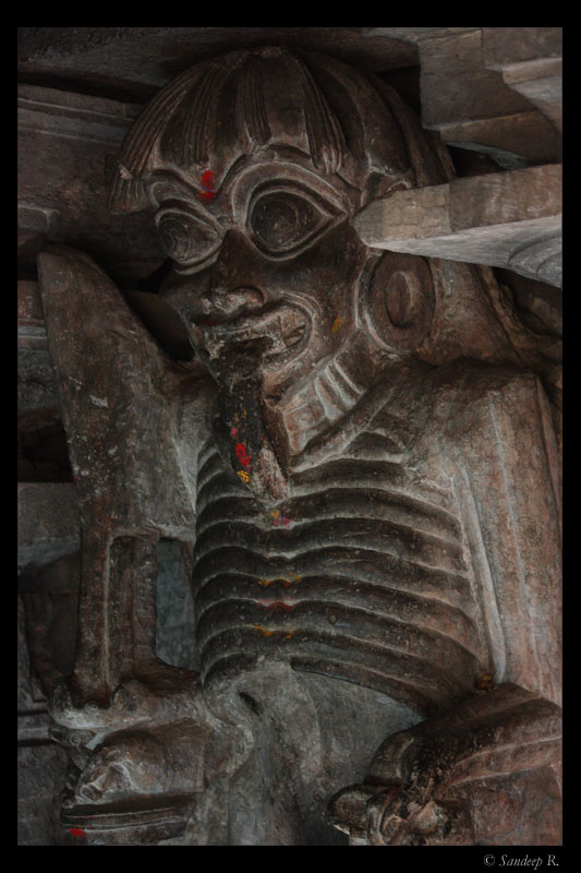 Bethala, the deamon standing guard to Maha Kali