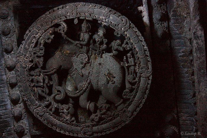 Indra on white elephant with wife suchi devi