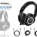 Audio-Technica ATH-M50 vs M50x Compare