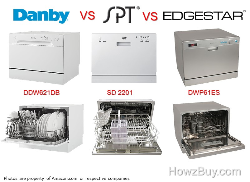 Countertop Dishwashers Danby vs SPT vs Edgestar Compared