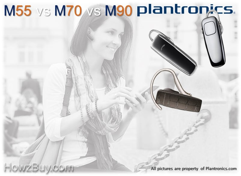 Plantronics M55 vs M70 vs M90 Bluetooth Headsets Comparison Guide