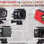 SJCAM SJ4000 vs Lightdow LD4000 vs LD6000 vs AKASO EK7000 vs LD-4K Review & Compare