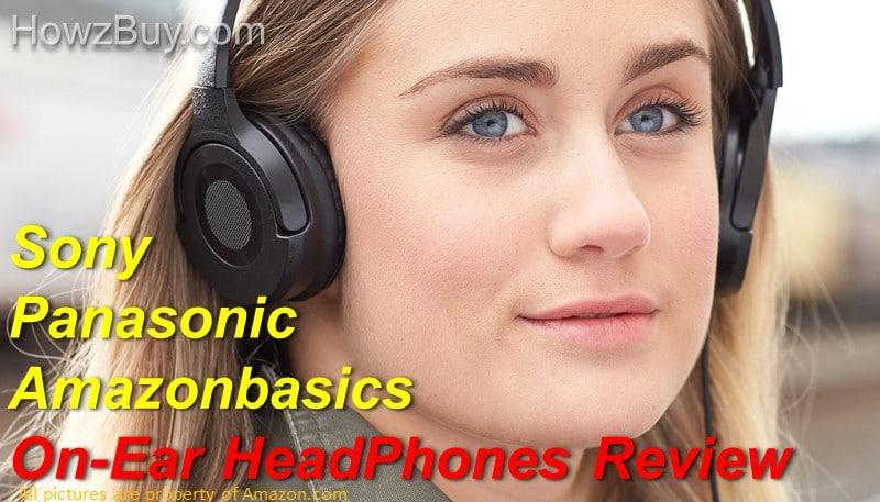 Amazonbasics HP01 V2 vs Sony MDRZX110AP ZX vs Panasonic RP-HF100M-K On-Ear Stereo Headphones Comparison