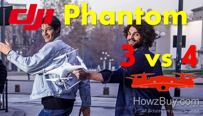 DJI Phantom 3 vs Phantom 4 Quadcopter Drone Review & Comparison