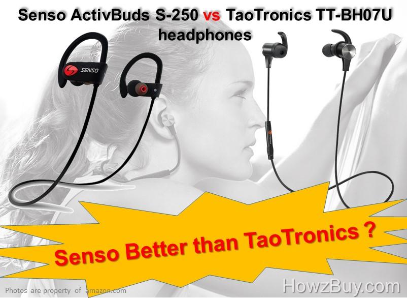 Senso ActivBuds S-250 vs TaoTronics TT-BH07U headphones