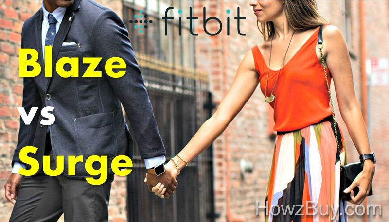 Fitbit Blaze vs Fitbit Surge Comparison