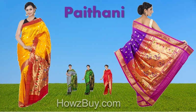 Indian Paithani Handloom Pure Silk Saree Buying Online