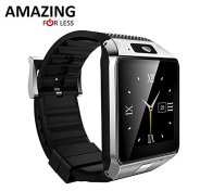 Amazingforless Bluetooth Touch Screen Smart Wrist Watch Phone with Camera