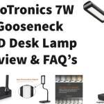 TaoTronics LED 7W Desk Lamp, Flexible Gooseneck Table Lamp Review with FAQ's