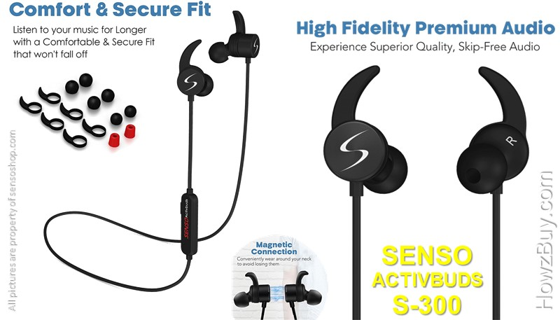 senso activbuds s-300-senso-activbuds-bluetooth-headphones-waterproof-wireless-earphones-earbud