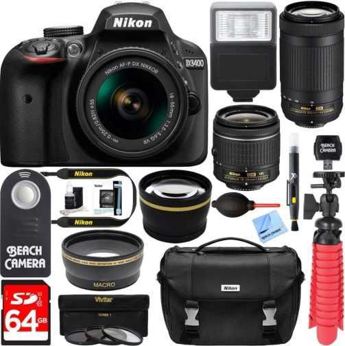 nikon camera with telephoto lenses