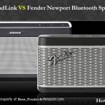 Bose SoundLink And Fender Bluetooth Speaker III Comparison