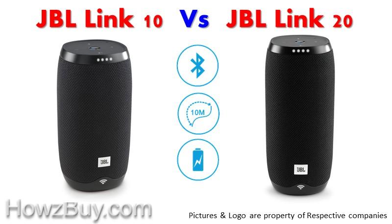 JBL LINK 10 vs JBL LINK 20 Voice Activated Portable Speaker Comparison