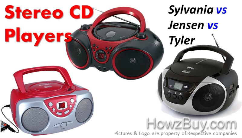 Sylvania SRCD243 Vs Jensen CD-490 Vs tyler TAU101-SL Portable CD Player Comparison And Review
