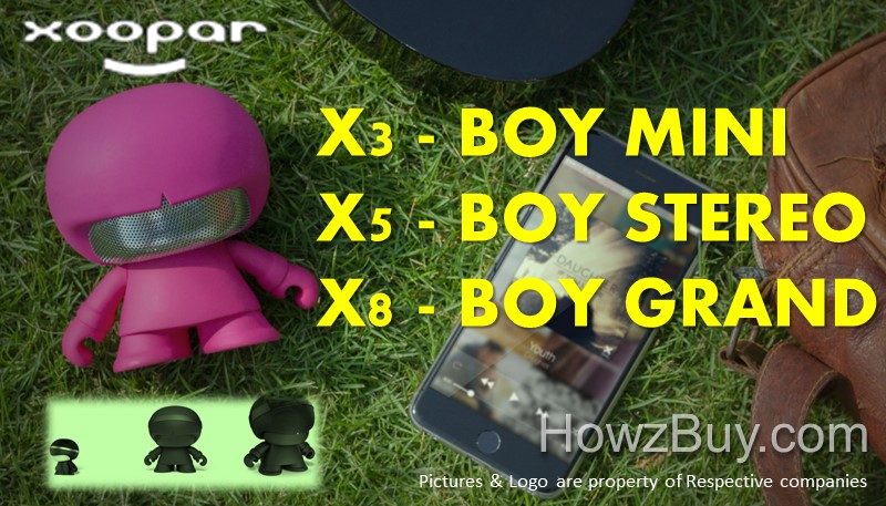 Xoopar X3 - MINI vs X5 STEREO vs X8 GRAND Bluetooth Speakers Comparison & Review