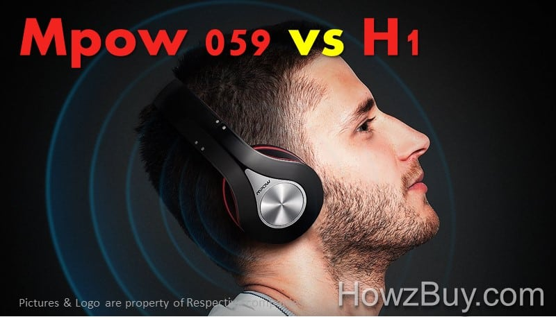 Mpow 059 vs Mpow H1 Over Ear Headphones Review & Compare