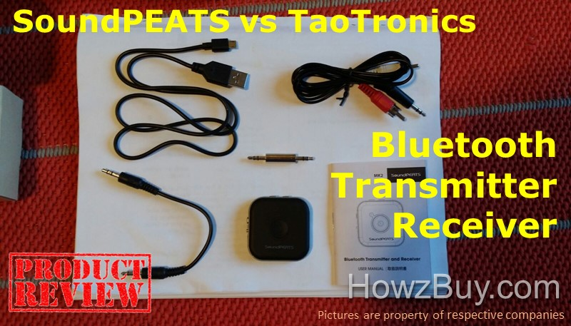 SoundPEATS vs TaoTronics Bluetooth Transmitter Receiver Review