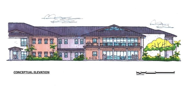 drawing of proposed state veterans home