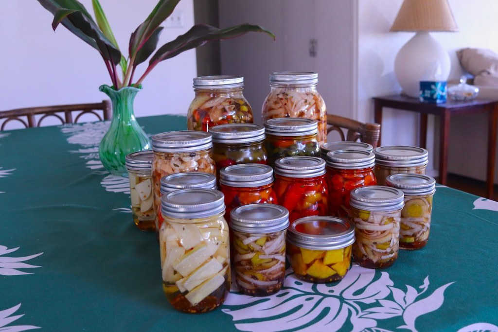 many different pickled foods