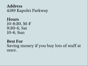 kapolei costco information