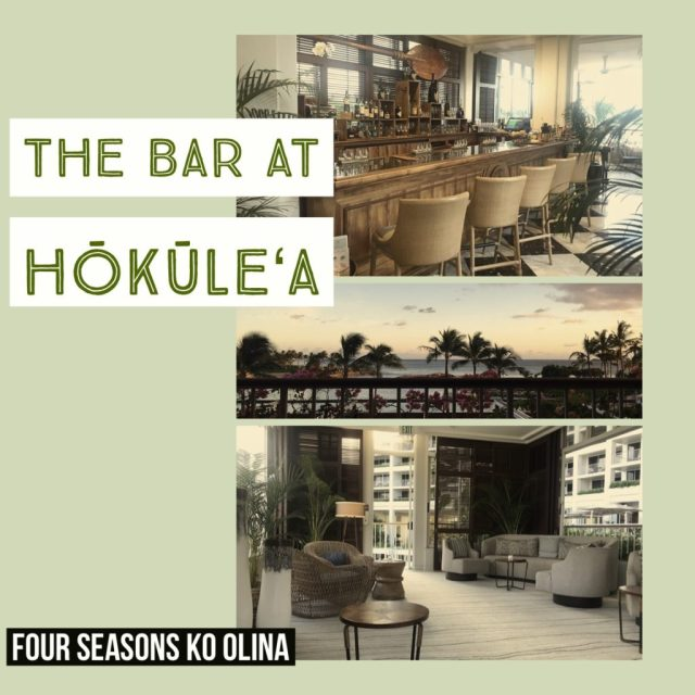 The Bar at Hokulea collage