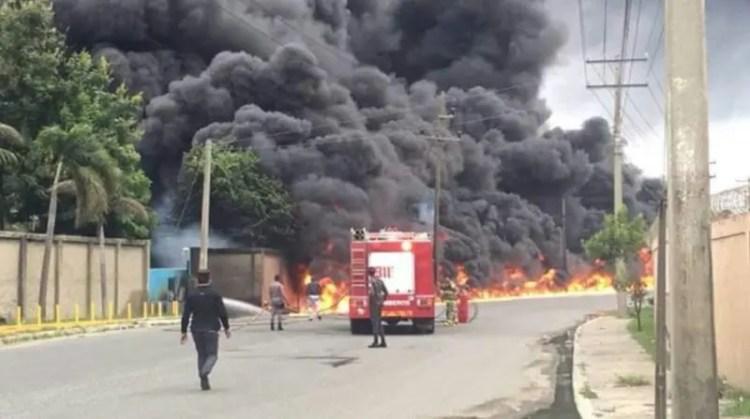 Incendio en Haina