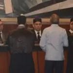 El Pais/ .El Presidente de la Suprema corte de Justicia Henry Molina Medina , dirige la audiciencia del caso de Odebrecht, en la sala penal agusta de la referida camara en compañia del pleno de ese tribunal de justicia ,Hoy/Jose Francisco ,9-10-2019