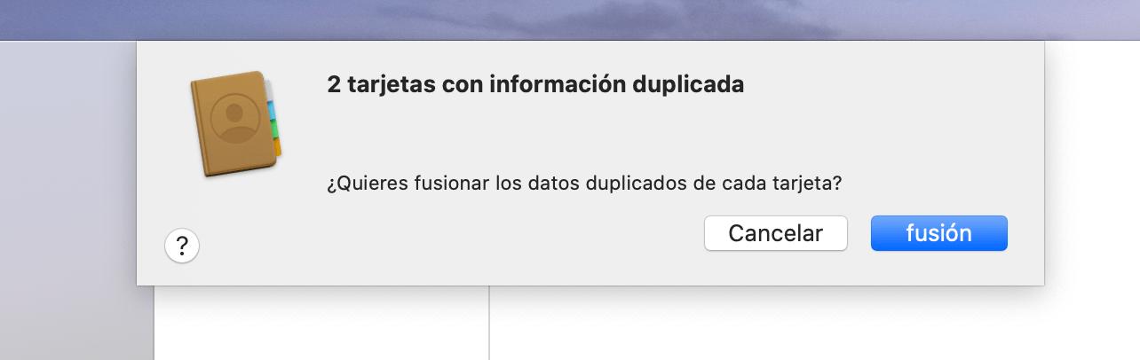 Contactos Duplicados - Hoy en Apple