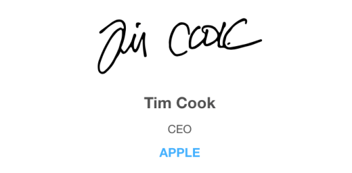 Firma de Tim Cook
