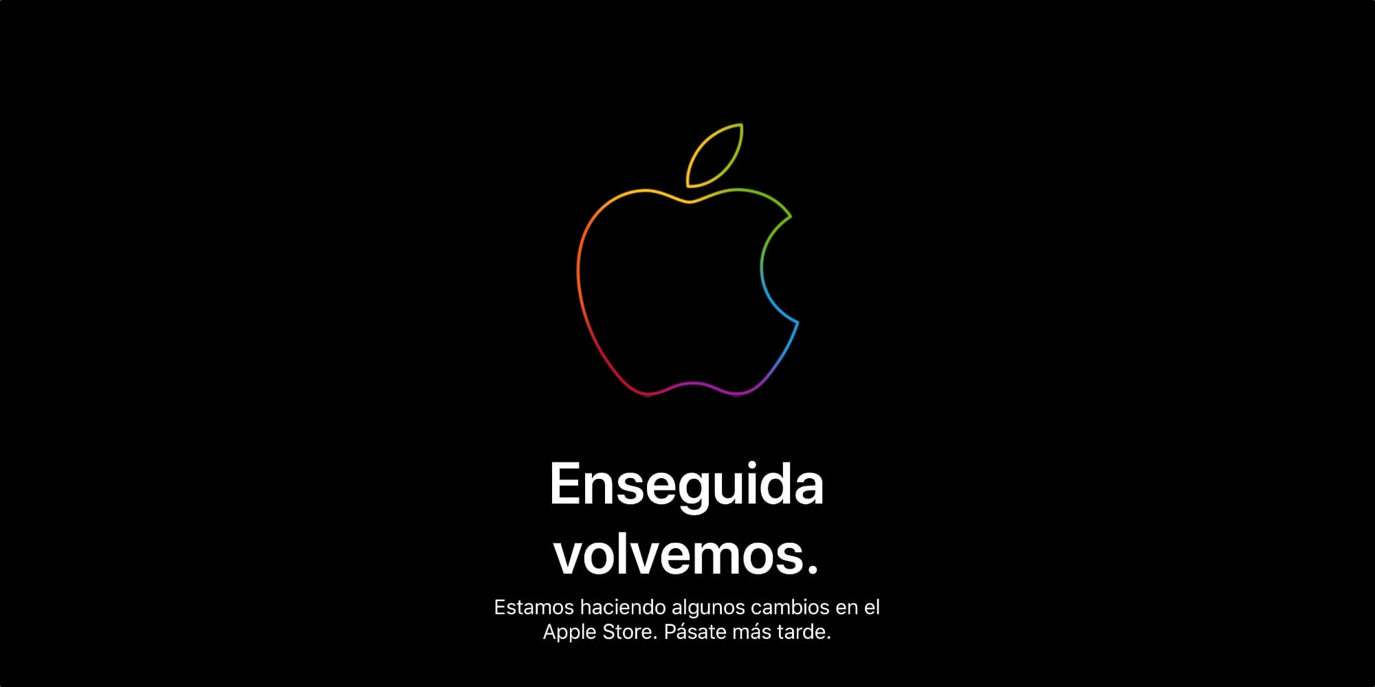 Enseguida volvemos - Apple Store