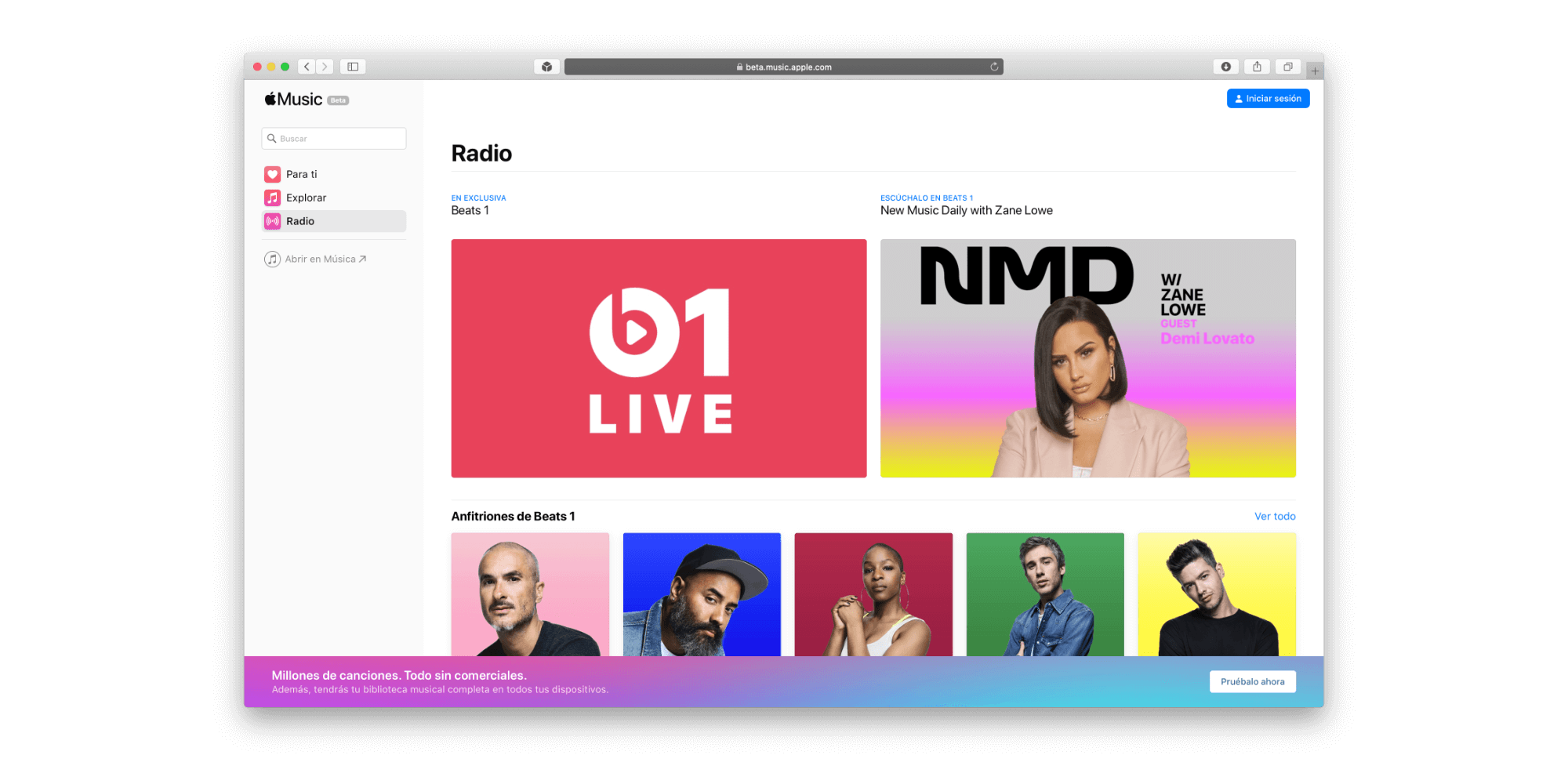 Apple Music web Hero