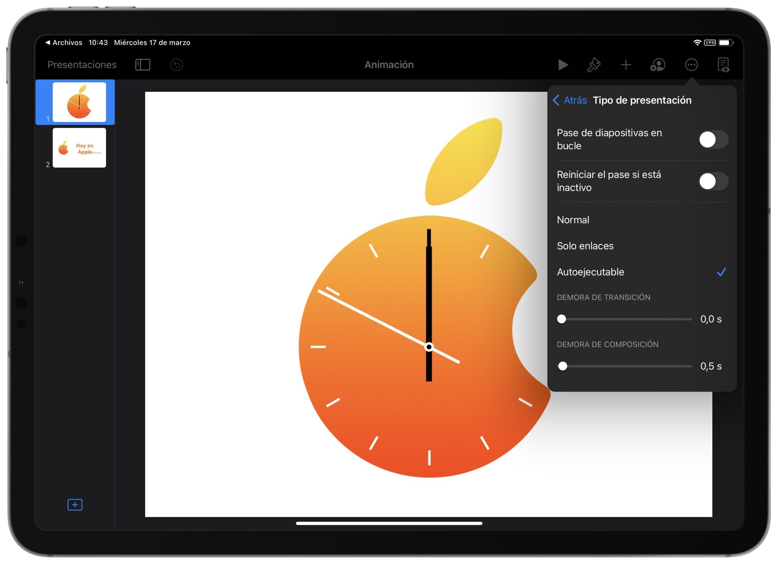 Cómo reproducir automáticamente o reproducir en bucle una presentación de Keynote en nuestro Mac, iPad o iPhone