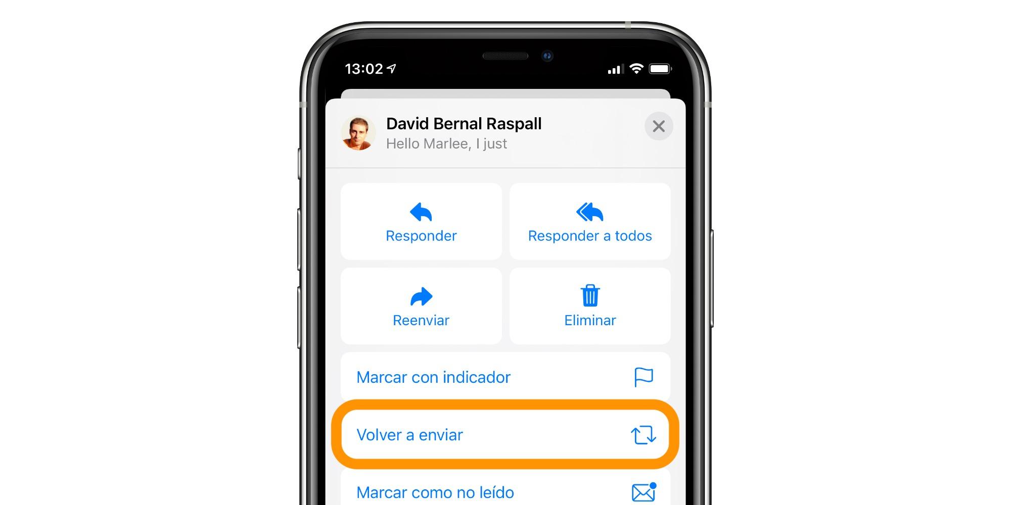 Qué es y cómo usar la opción Volver a enviar de Mail en nuestro iPhone, iPad o Mac
