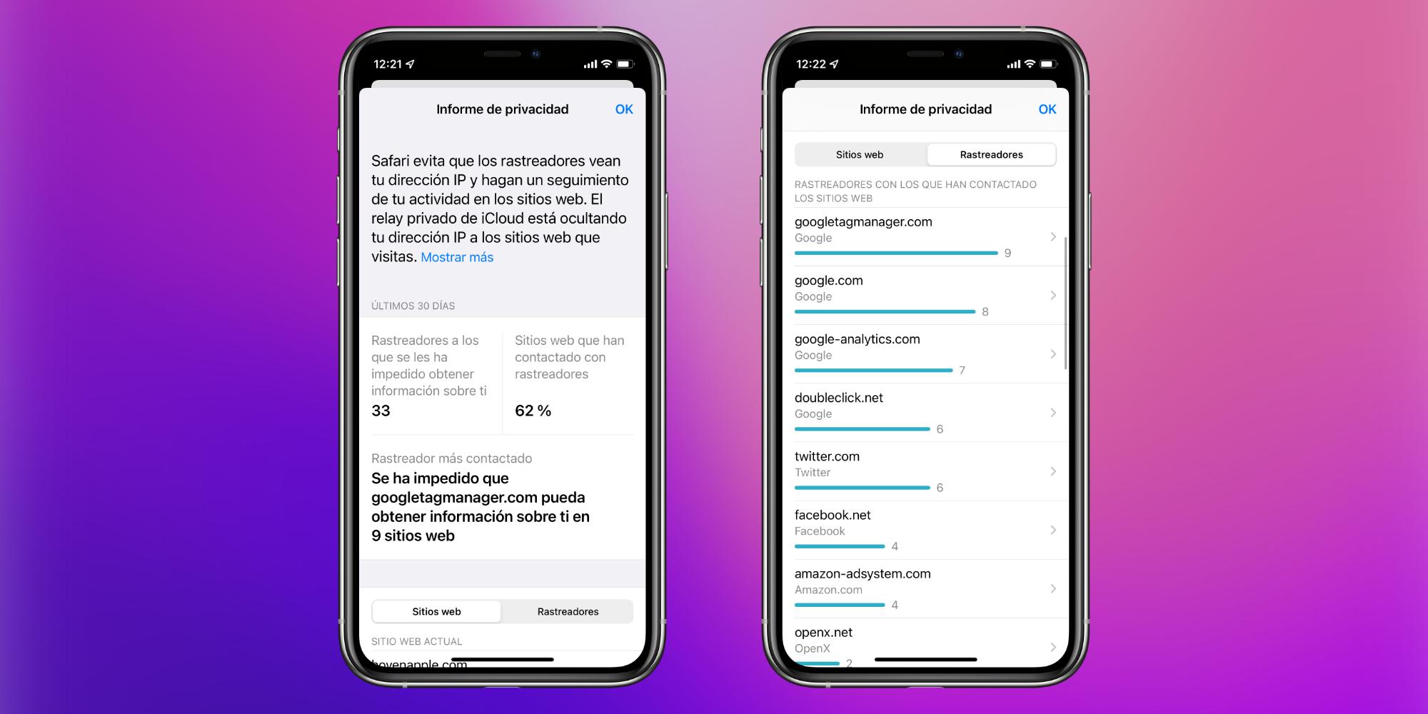 Qué es y cómo utilizar el informe de privacidad de Safari en nuestro iPhone o iPad