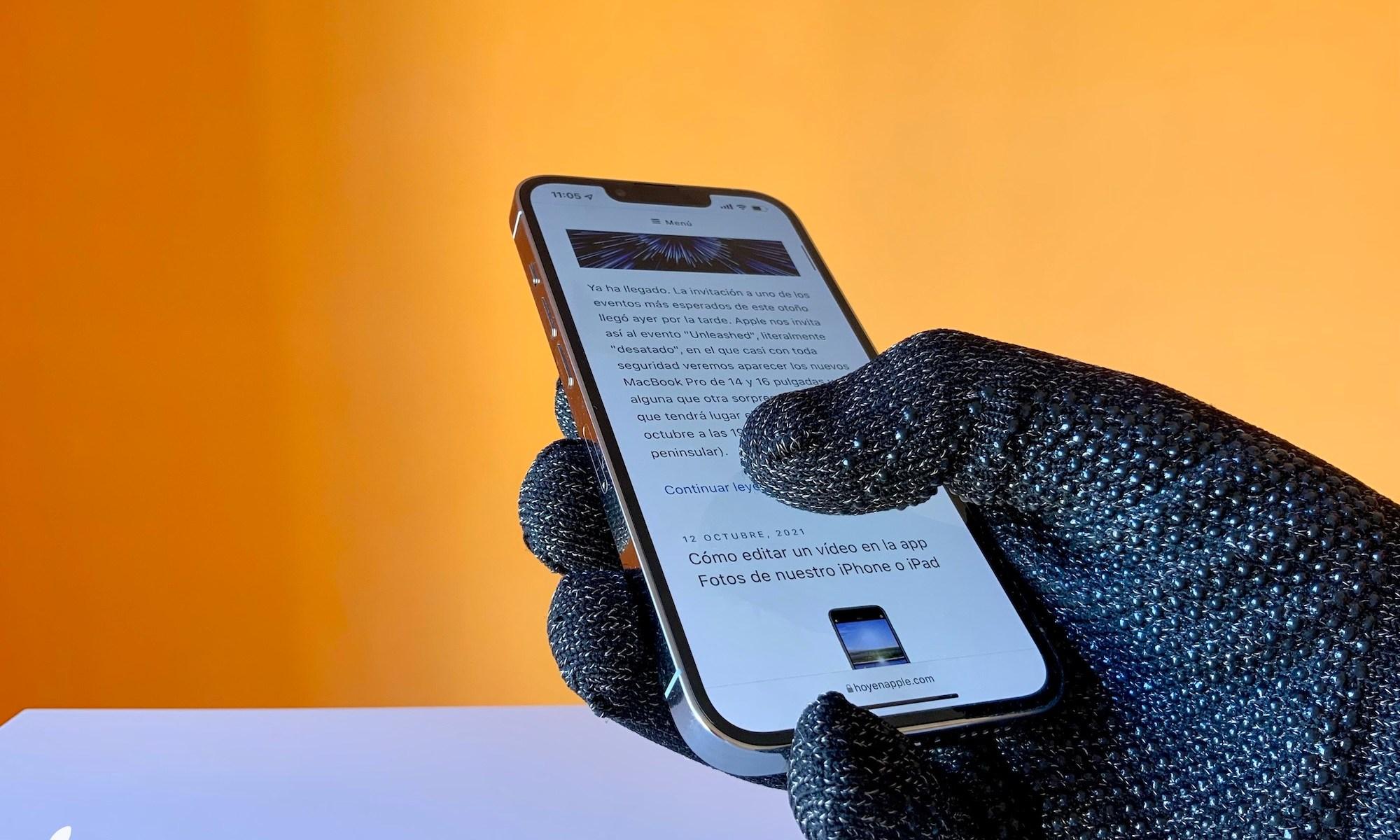 Guantes táctiles de Mujjo, ideales para usar nuestro iPhone por mucho frío que haga