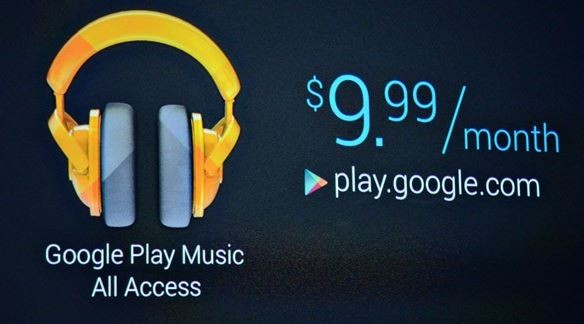 el google all play access music