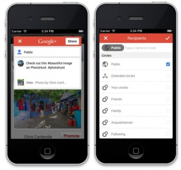 nuevo version google plus ios