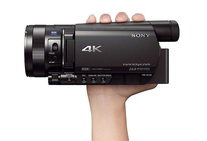 CES 2014 Sony lanza FDR-AX100 Handycam, grab en 4k