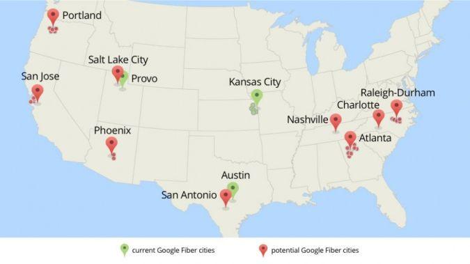 new nuevos google fiber cities ciudades