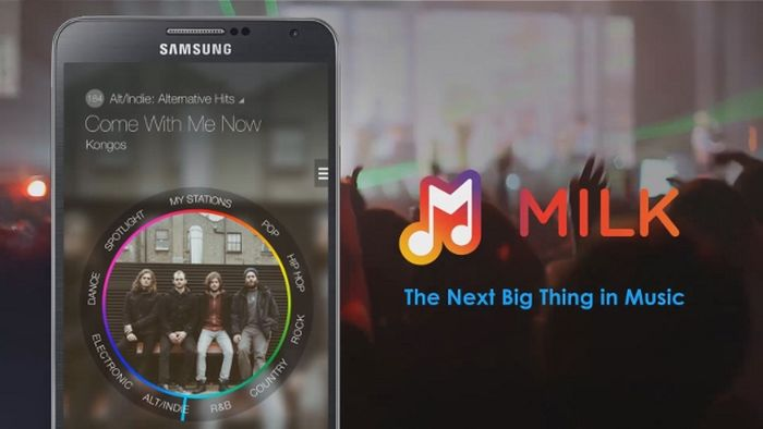 milk music streaming samsung