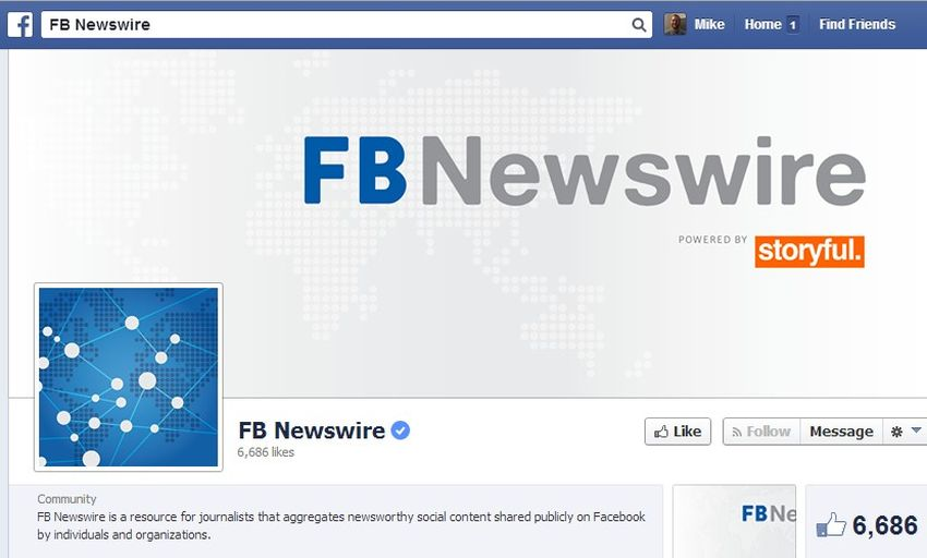 new facebook newswire